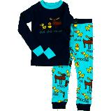Kids Boy Duck Moose Pajama Set