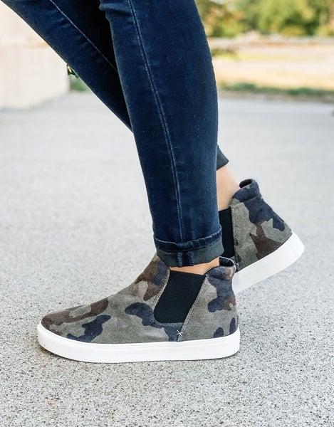Camo Slip On High Top Sneaker *Final Sale*