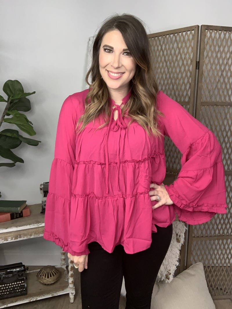 Hot Pink Kissing Blouse