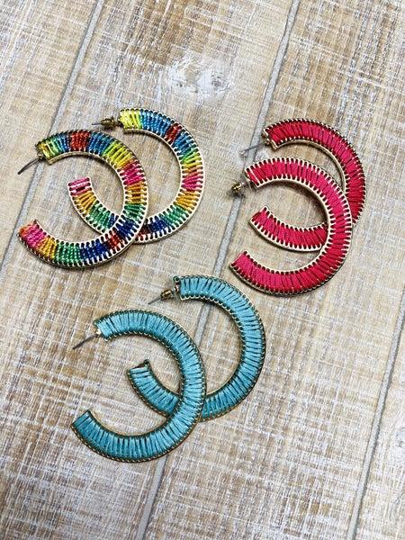 Hooped Thread Earrings