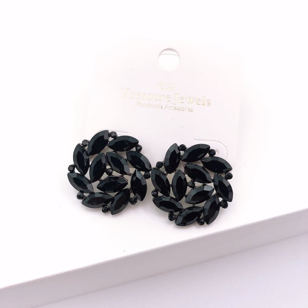 Black Crystal Stud Earring *Final Sale*