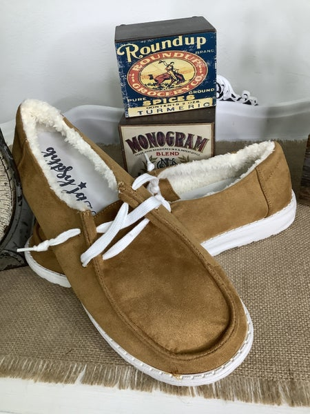 Brown Fur Sneaker *Final Sale*
