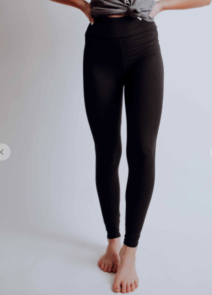 Solid Black Full Length Legging