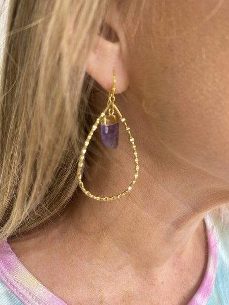 Teardrop Earring with Mini Horn *Final Sale*