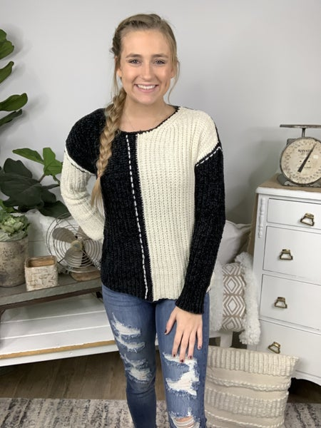 Night and Day Chenille Sweater