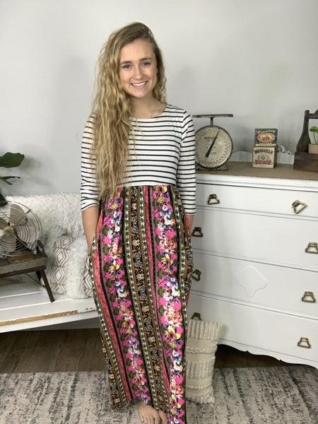 Patterns Galore Maxi Dress *Final Sale*