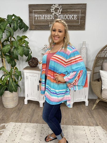 Abstract On The Stripes Cardigan