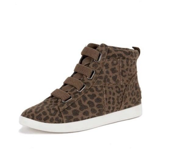 Leopard High Top Shoe