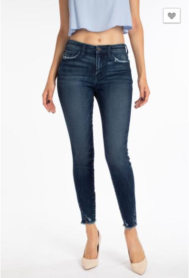 Ankle Skinny Slit Jeans