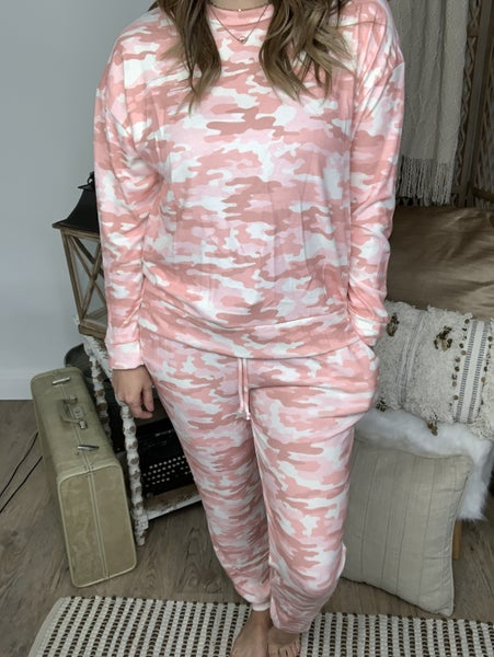 Dusty Pink/Taupe Camo Lounge Pant