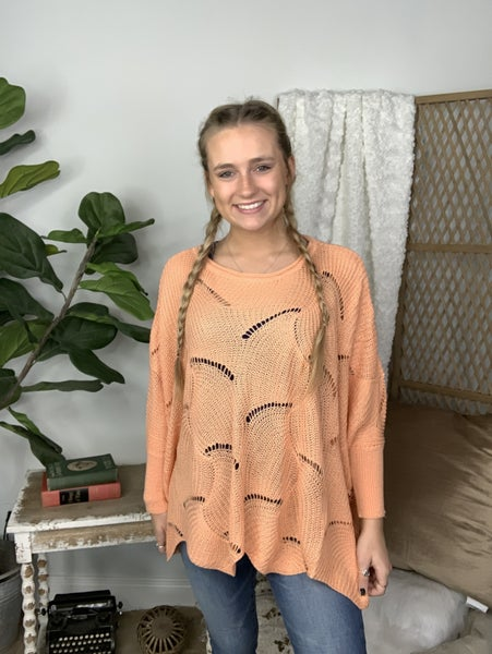 Perfectly Peachy Sweater