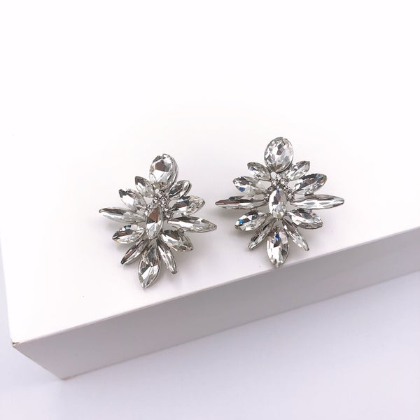 Silver Crystal Stud Earrings *Final Sale*