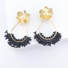 Gold Plated Beaded Earring *Final Sale*