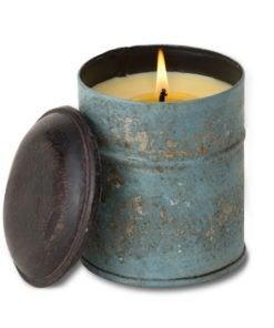 Blue Spice Tin Bourbon Vanilla Candle