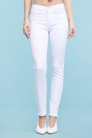 White Midrise Skinny Jean