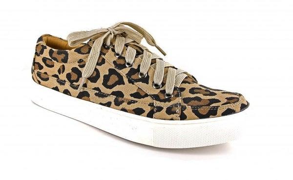 Leopard Tie Sneaker