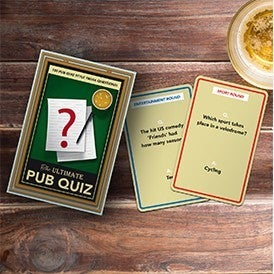 Pub Quiz Trivia Card Game