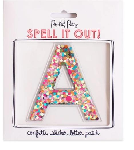 Confetti Letters *Final Sale*