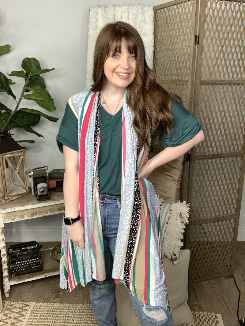 Striped Abstract Vest