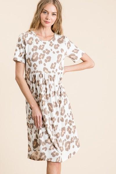 Ivory Animal Print flowy Dress