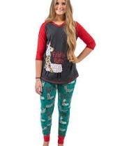 Womens Falala Llama Legging Pajama Set