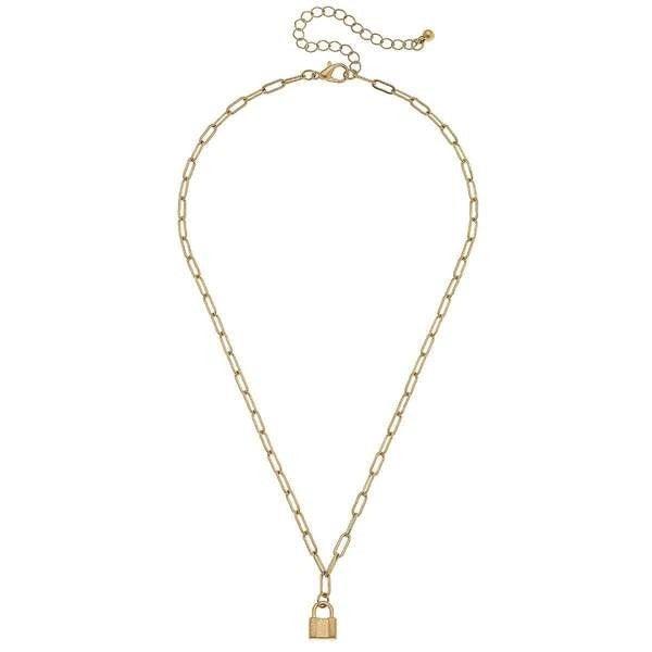 Genesis Mini Padlock Charm Necklace *Final Sale*