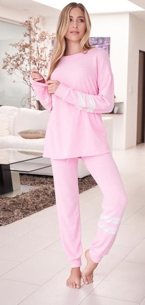Solid Pink Comfy Pants