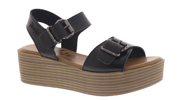 Black Buckle Wedge *Final Sale*