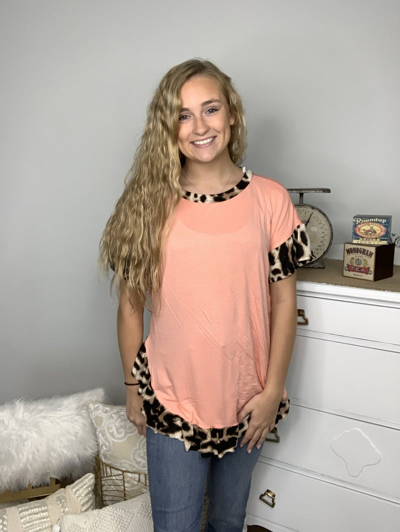 Cheetah Me Ruffle Top