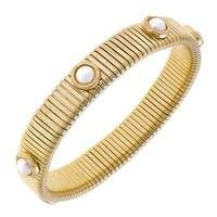 Florence Watch Band Bangle in Ivory Pearl *Final Sale*