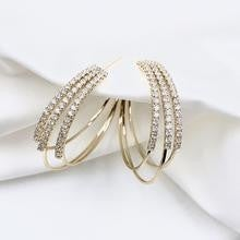 Gold Plated Crystal Hoop Earrings *Final Sale*
