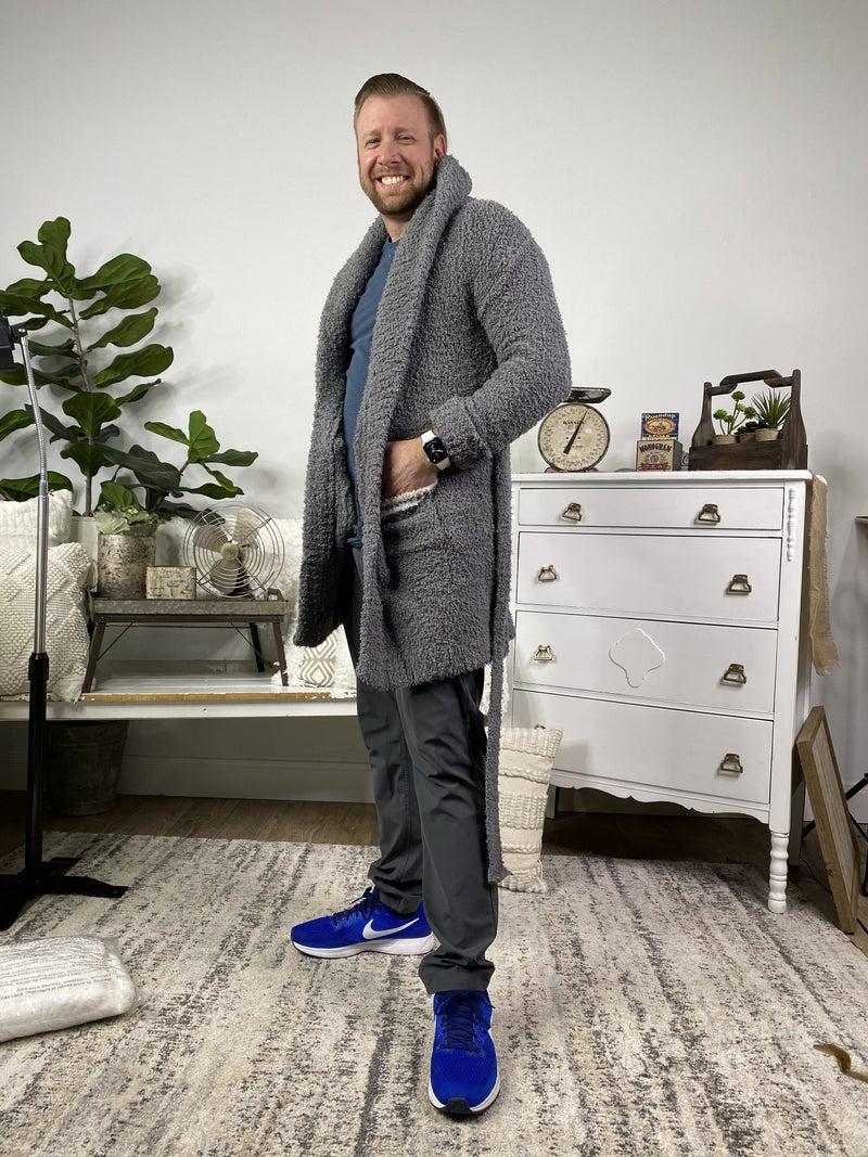 Grey Berber Fleece Robe *Final Sale*