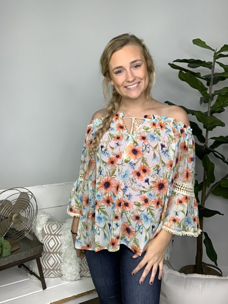 Perfect Floral Bell Top *Final Sale*