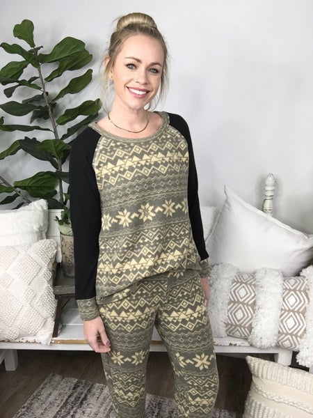 Black and Taupe Lounge Pants *Final Sale*