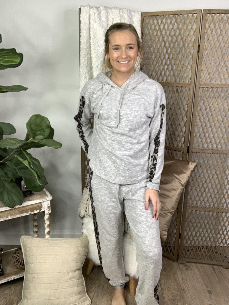 Heather Grey Animal Print Sweatpants *Final Sale*