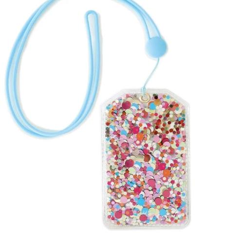 Confetti Lanyard ID Holder *Final Sale*