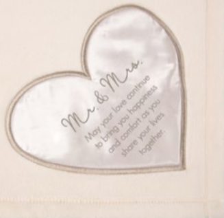 50 X 60 Plush Blanket - Mr. and Mrs.
