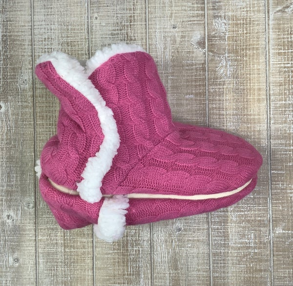 Knit Ankle Slippers- Small