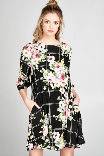 Through The Window Floral Dress
