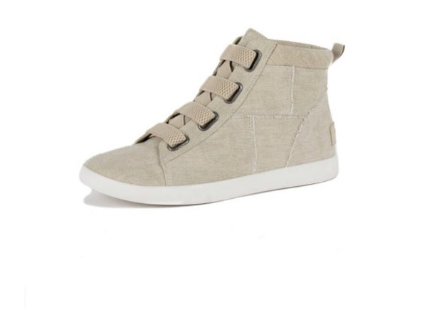 Taupe High Top Shoe
