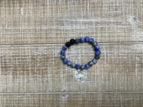 Kids Blue Natural Stone Bracelet
