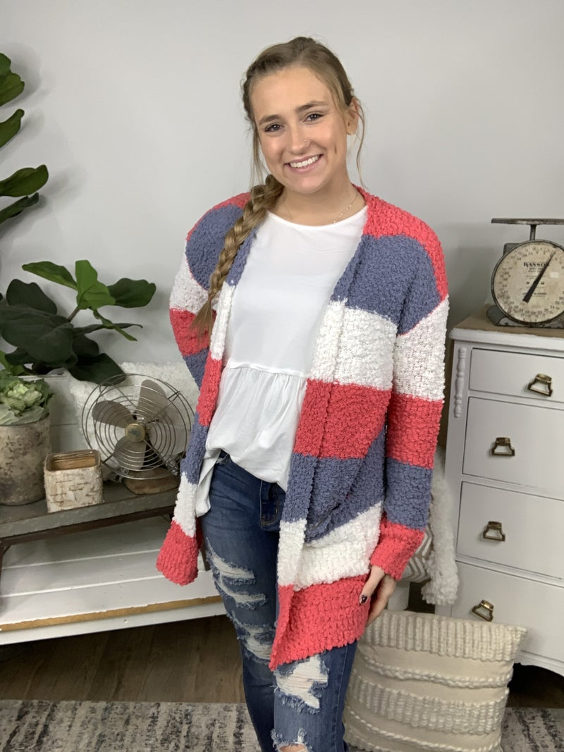 Popcorn Sweater Cardigan