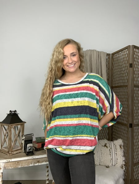 Multi Colored Striped Top *Final Sale*