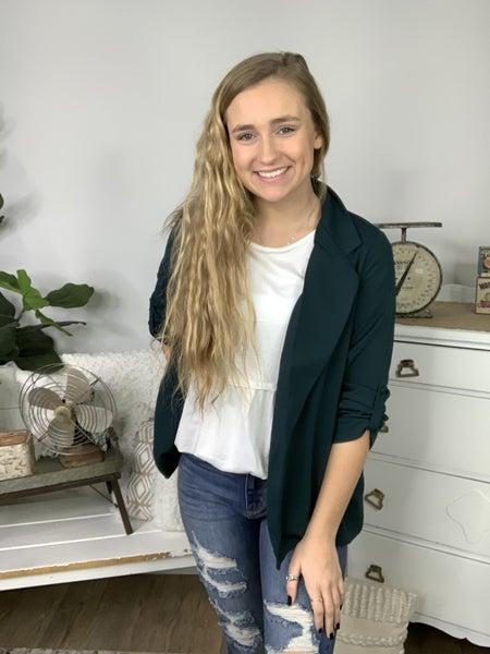Hunter Green Knit Jacket