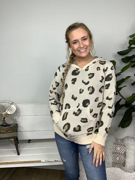 Natural Leopard Hoodie