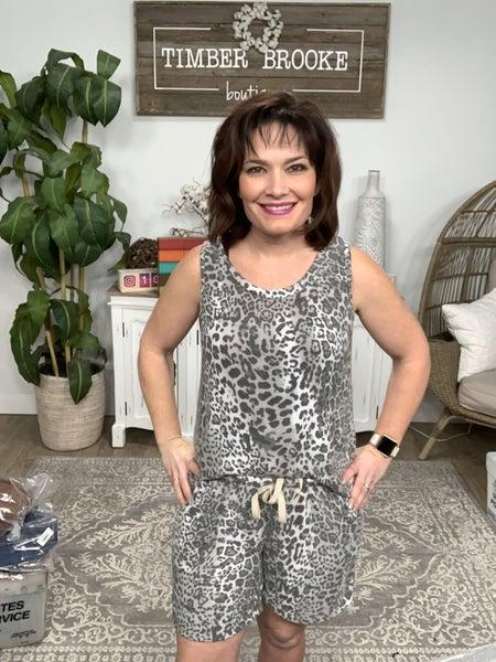 Grey Cheetah and Tie Dye Lounge Shorts *Final Sale*