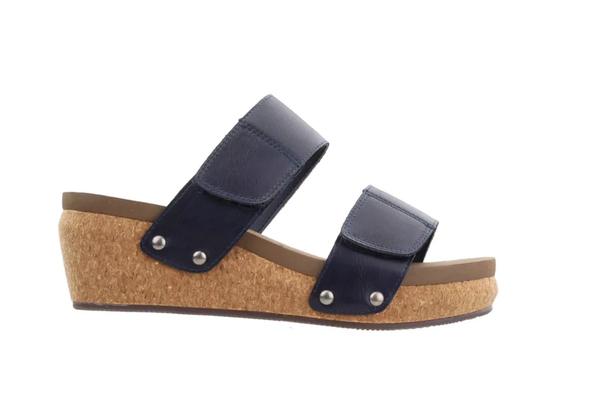Navy Shaw Sandals