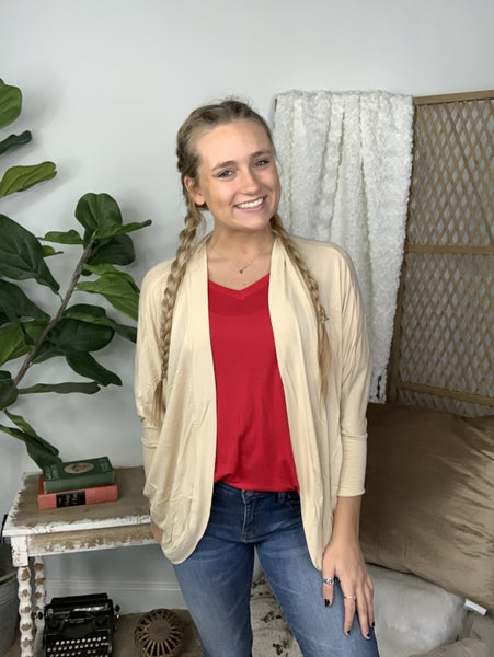 Taupe Cocoon Wrap Cardigan *Final Sale*