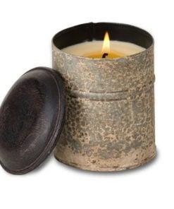 White Spice Tin Tobacco Bark Candle