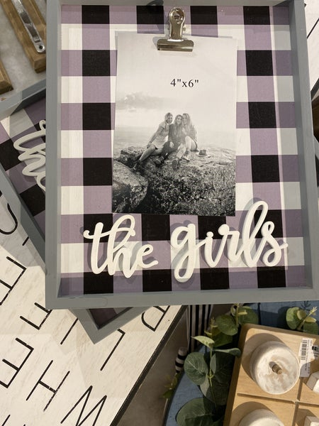 Check Table Top Picture Frame *Final Sale*